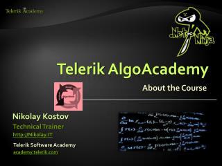 Telerik AlgoAcademy