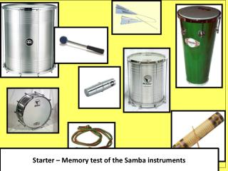 Starter  � Memory test of the Samba instruments