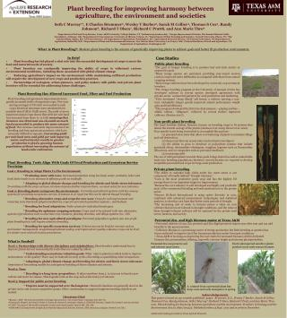 Plant breeding for improving harmony between agriculture, the environment and societies