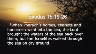 Exodus 15:19-26