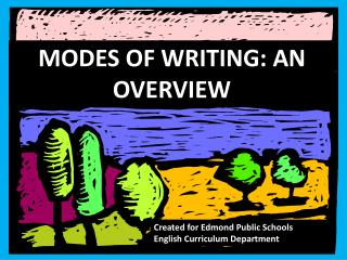 MODES OF WRITING: AN OVERVIEW