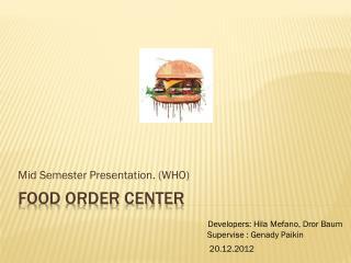 Food Order Center