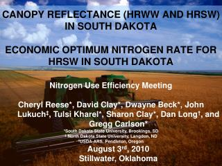 Nitrogen Use Efficiency Meeting