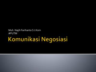 Komunikasi Negosiasi