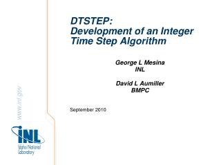 DTSTEP: Development of an Integer Time Step Algorithm