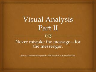 Visual  Analysis Part II
