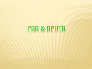 PBB &  bphtb