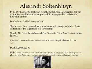 Alexandr Solzenhitsyn