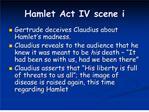 Hamlet Act IV scene i