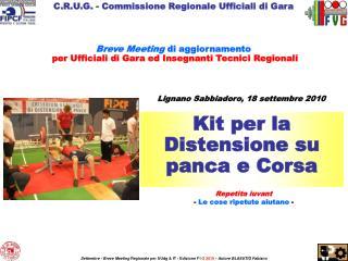 C.R.U.G. - Commissione Regionale Ufficiali di Gara