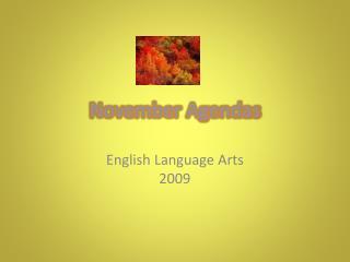 November Agendas