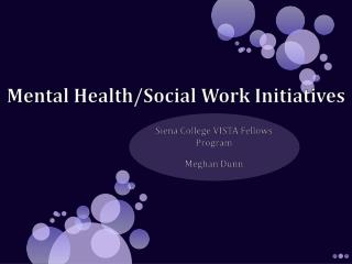 Mental Health/Social Work Initiatives