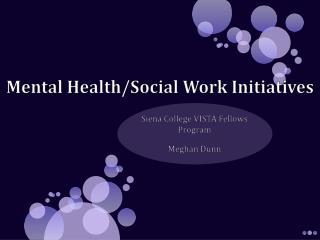 Mental Health/Social Work Initiatives