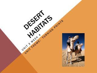 Desert habitats