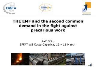 Ralf  G ö tz EFFAT WS Costa  Caparica , 16 – 18 March