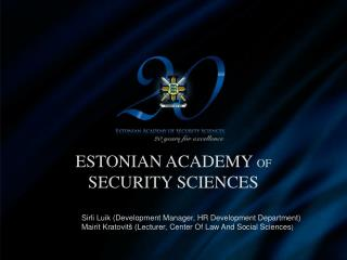 Estonian  Academy of Security Sciences