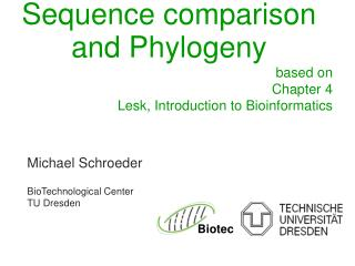 Sequence comparison and Phylogeny