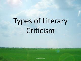 Types of Literary Criticism