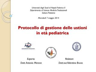 Protocollo di gestione delle ustioni in età pediatrica