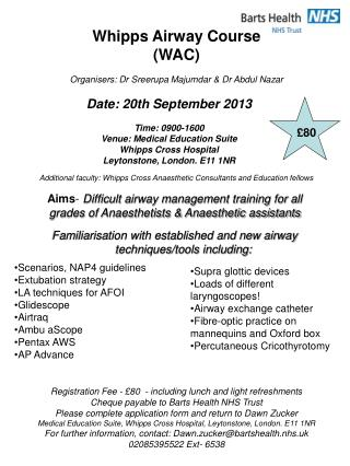 Whipps Airway Course (WAC)