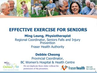 EFFECTIVE EXERCISE FOR SENIORS