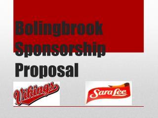 Bolingbrook Sponsorship Proposal