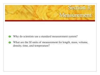 Section 3: Measurement