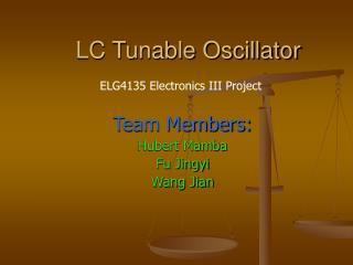 LC Tunable Oscillator