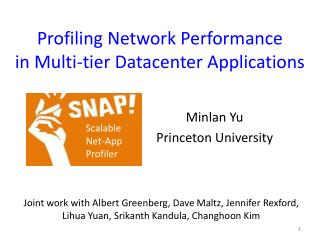 Profiling Network Performance in Multi-tier Datacenter Applications