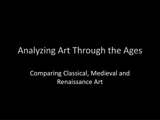 Analyzing Art Through the Ages