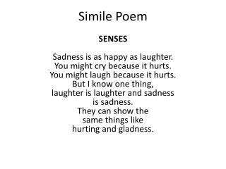 Simile Poem