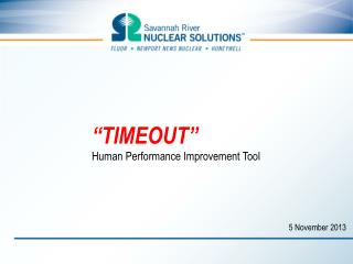 """TIMEOUT"" Human Performance Improvement Tool"