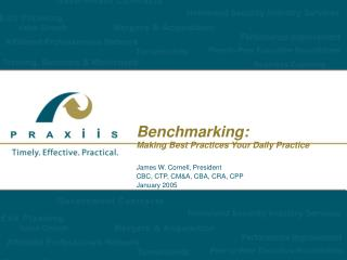 Benchmarking: Making Best Practices Your Daily Practice