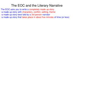 The EOC and the Literary Narrative