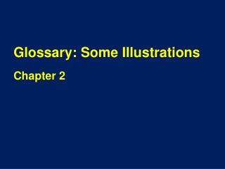 Glossary: Some Illustrations