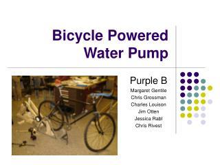 Bicycle Powered Water Pump