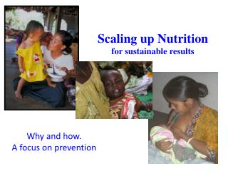 Scaling up Nutrition for sustainable results