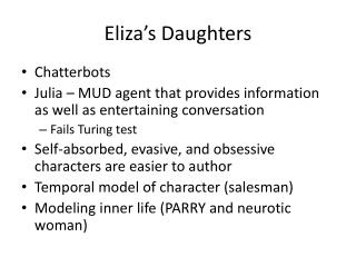 Eliza's Daughters