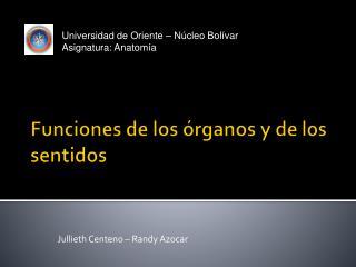 Funciones de los órganos y de los sentidos
