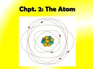 Chpt. 2: The Atom