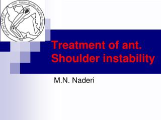 Treatment of ant. Shoulder instability