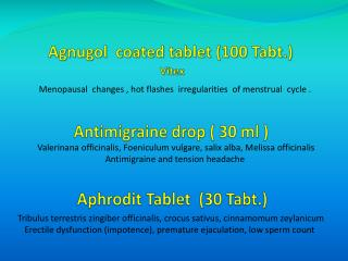Agnugol   coated tablet (100  Tabt .) Vitex