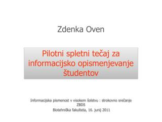 Zdenka Oven