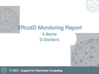 XRootD  Monitoring Report A.Beche D.Giordano