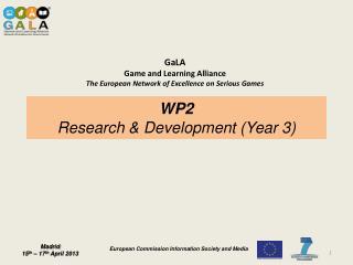 WP2 Research & Development (Year  3 )