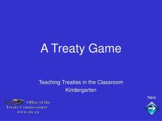 A Treaty Game