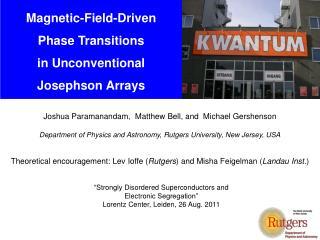 Joshua  Paramanandam ,  Matthew  Bell, and   Michael  Gershenson