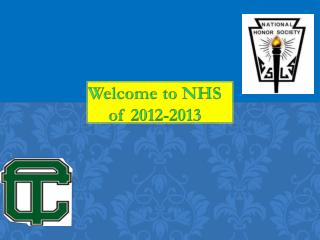Welcome to NHS of 2012-2013
