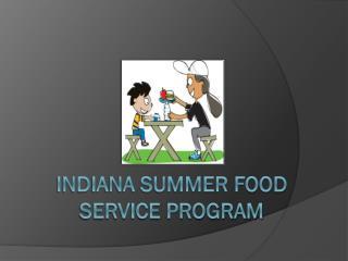Indiana Summer Food Service Program