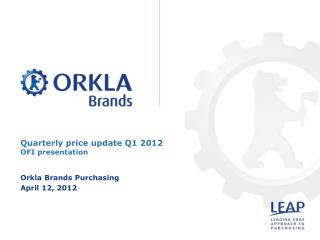 Quarterly price update Q1 2012 OFI presentation